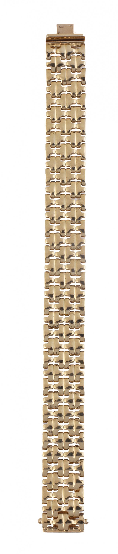 Brazalete ancho compuesto por piezas a modo de lazos que co