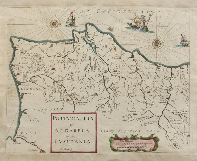 """GERARD BOUTTATS (1640 - 1695-96 ) Portugal: """"Portugallia"""