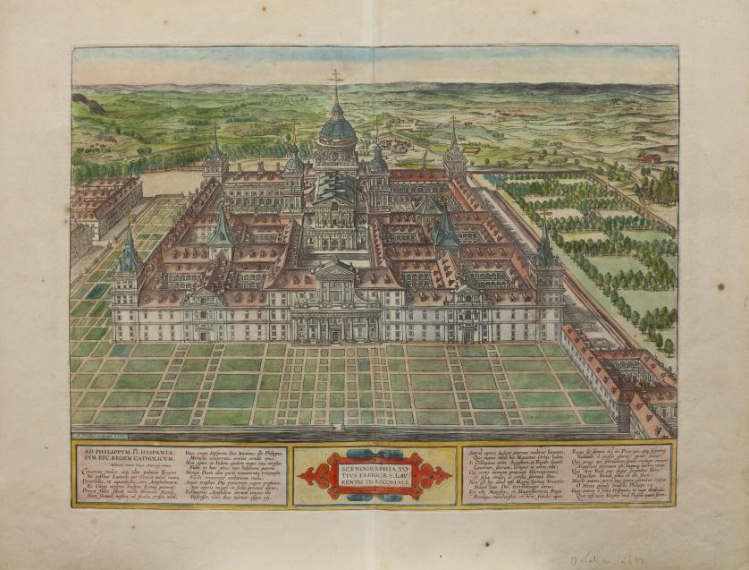 ABRAHAM ORTELIUS (Amberes, 1527- 1598)Mapa del Escorial: