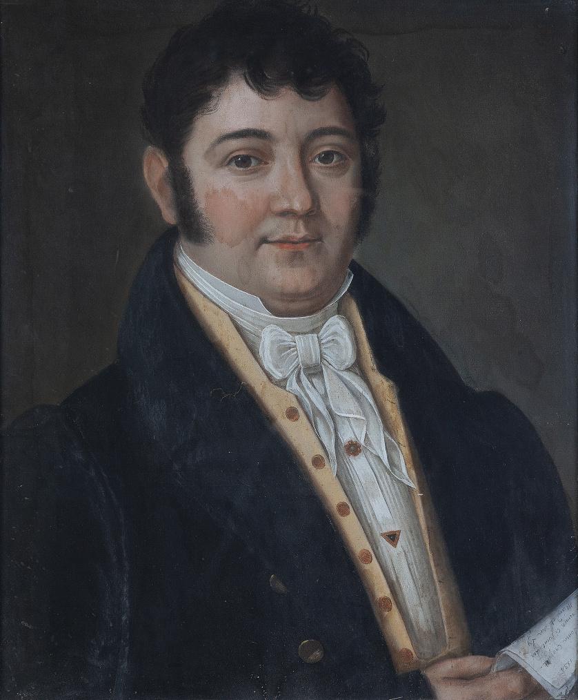 ESCUELA FRANCESA, H. 1834Retrato de caballero1834