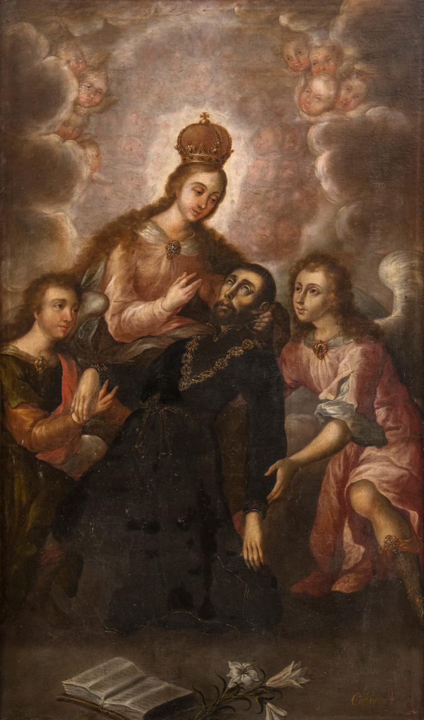 JOSÉ RODRÍGUEZ CARNERO (México, 1649-1725)La lactación de