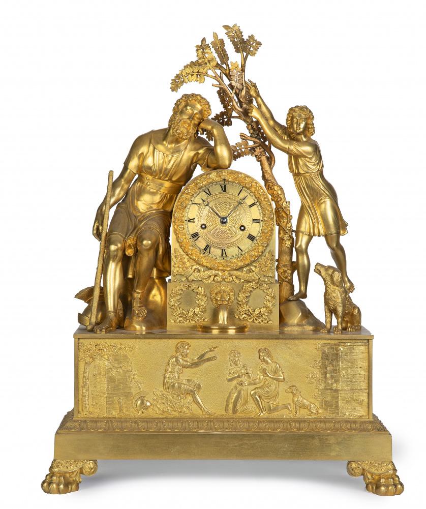 Reloj en bronce dorado Luis Felipe.Francia, h. 1830-1848.