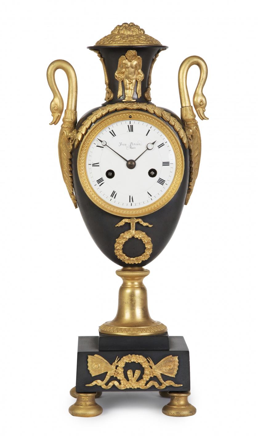 """""""Jean Perris, Paris"""".Reloj Carlos X de estilo  imperio en"""