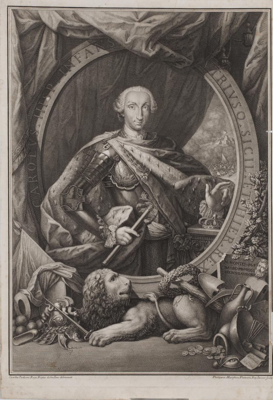 CAMILLUS PADERNI (inv) PHILIPPUS MORGHEN (sculp)Retrato de