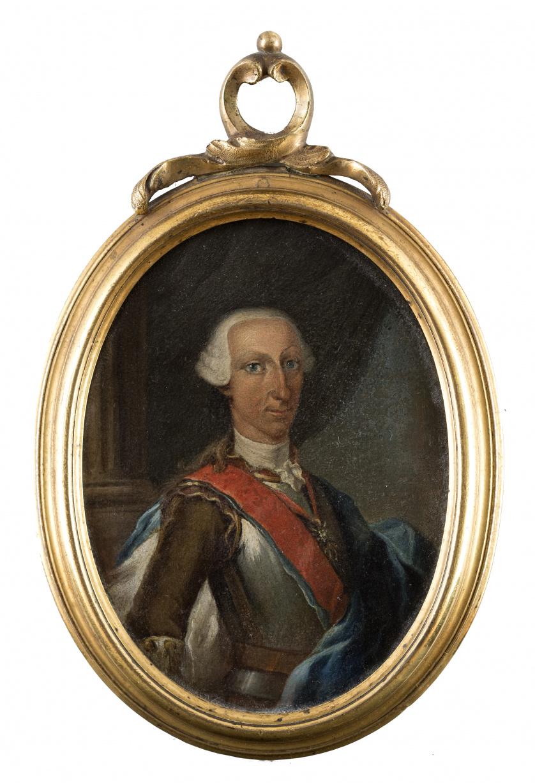 ESCUELA NAPOLITANA, H. 1750Retrato de Carlos III con el t
