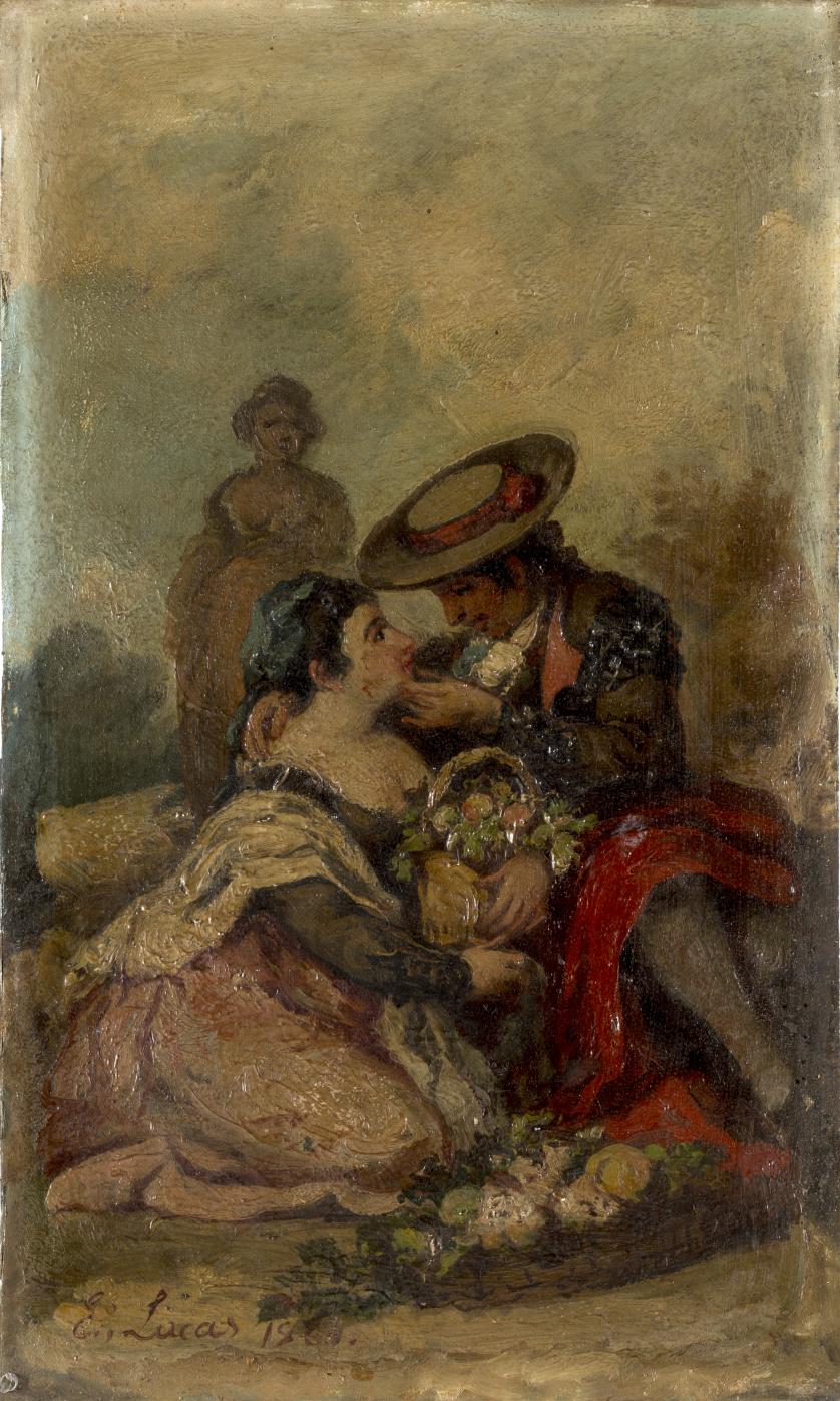 EUGENIO LUCAS VELÁZQUEZ (1817-1870)Majo y maja