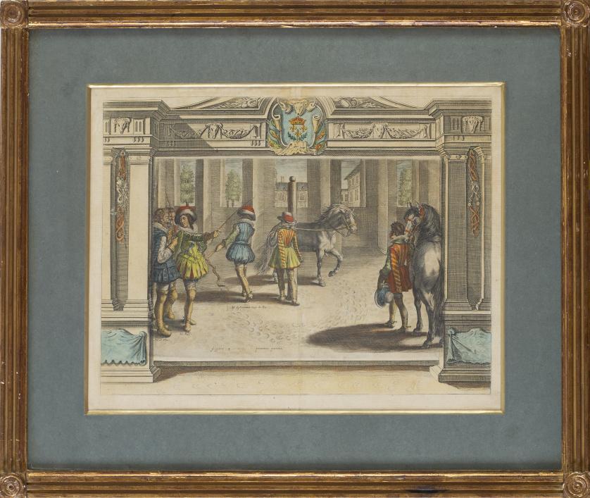 """CRISPIN DE PASSE (1564-1637)""""Le mánegè du Roi"""""""