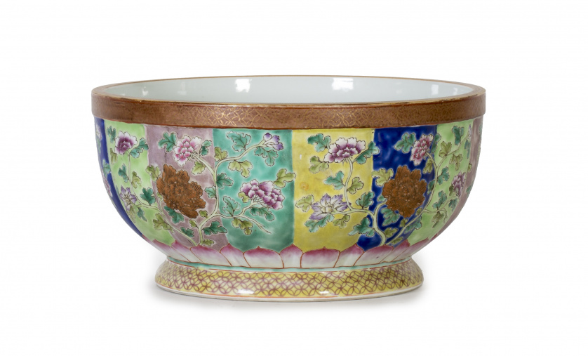 Gran bowl Compañía de Indias.Trabajo chino para la exporta