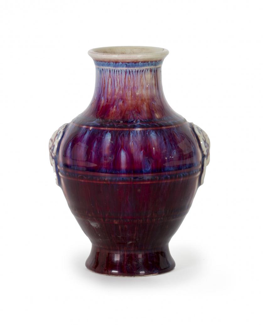 Jarrón en porcelana flambe-glazed  China, S. XIX